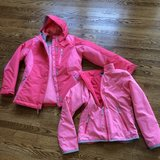 Girls coat w zip in fleece lined coat ax 10-12 in Bolingbrook, Illinois