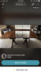 Beautiful drop leaf table with extra leaf in Keesler AFB, Mississippi