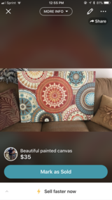 Large beautiful canvas in Keesler AFB, Mississippi