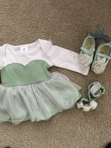6-9 month Disney tinker bell set with shoes and headband in Chicago, Illinois