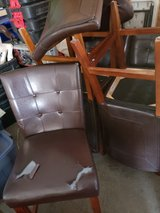 """""""Leather"""" tall chairs for gathering table in Fort Leonard Wood, Missouri"""