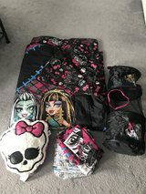 Full size Monster high bedding and accessories in Oswego, Illinois
