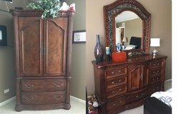 Darvin Armoire, Dresser with mirror and End Table in Oswego, Illinois