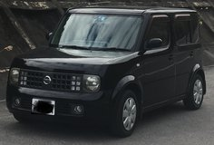 Reduced Black 2003 Nissan Cube in Okinawa, Japan