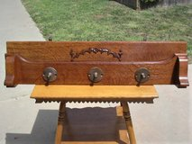 Antique Oak Hanging Wall Rack in Camp Pendleton, California