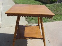 Antique Solid Oak Lamp Table in Vista, California