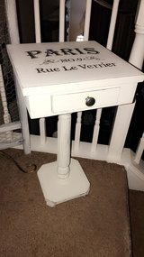 """Shabby chic accent table. 15""""x15""""x 28""""h in Chicago, Illinois"""