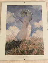 Lady with Parasol by Monet in Lakenheath, UK