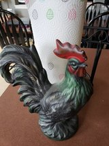 Small chalk decor rooster in Yorkville, Illinois