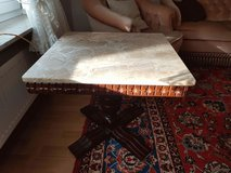 Marble top end table in Ramstein, Germany