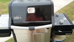 Old school weber spirit gas grill in Camp Lejeune, North Carolina