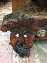 Tree Trunk Carved Head - Wurzelmann in Ramstein, Germany