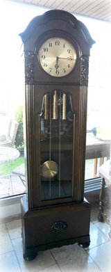 antique grandfather clock from the blackforest with Westminster chime in Hohenfels, Germany
