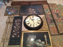 Architectural Pieces, needlepoint framed, clock -  ALL BUNDLED in one price in Baytown, Texas