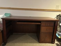 Desk and swivel chair with file cabinet in Schaumburg, Illinois