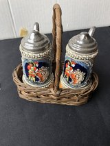 German Beer Steins Salt Pepper Shakers in Warner Robins, Georgia