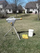 Rechargeable Zooka Pitching Machine and Balls in Wheaton, Illinois