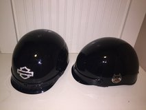 2 - Harley Davidson Women's Half Helmets with covers in Naperville, Illinois