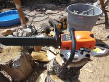 GAS CHAIN SAW ALMOST NEW 20 INCH W/BAR COVER MANUAL AND TOOLS in Alamogordo, New Mexico