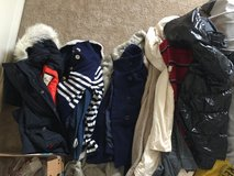 Bag of jackets and cardigans in Camp Pendleton, California