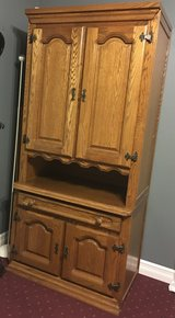 Genuine rustic style ' Schrank' room storage wall extension made in Belgium with solid oak........ in Watertown, New York