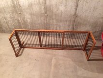 Wood and metal pet gate in Shorewood, Illinois