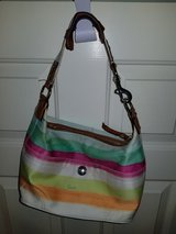 Striped Coach purse in Spring, Texas