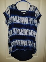 Ladies blue and white knit top in Spring, Texas