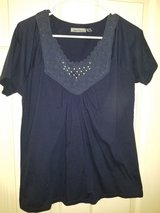 Ladies navy blouse with beads in Kingwood, Texas