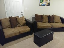 Couch & Love Seat and foot storage in Fort Leonard Wood, Missouri