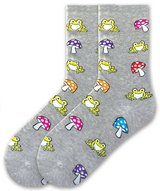 Frogs & Mushrooms Heather Gray Socks by K Bell Brand New In Pack in Camp Lejeune, North Carolina