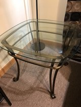 Glass-metal end table in Okinawa, Japan