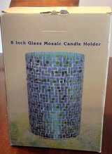 NEW 8 inch glass Mosaic Candle Holder pretty in Manhattan, Kansas