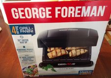 New George Foreman 4 Servings Grill & Panini in Fort Riley, Kansas