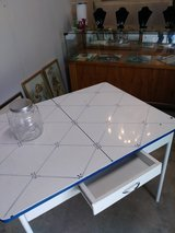 vintage enamel top table in Cherry Point, North Carolina
