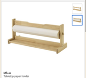 ikea table top paper holder with paper in Naperville, Illinois