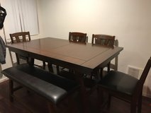 Dining room table and chairs with bench in Temecula, California
