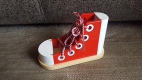 Melissa & Doug  wooden lacing shoe in Naperville, Illinois