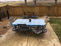 Outdoor patio table and chairs in Yorkville, Illinois