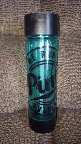 Victoria's secret pink water bottle blue in Aurora, Illinois