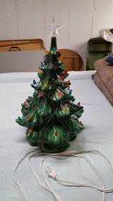 Ceramic Christmas tree (Atlantic mold) in Algonquin, Illinois