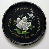 "NASHCO HAND PAINTED FLORAL TOLEWARE TRAY 11"" RND in Glendale Heights, Illinois"