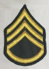 US Army dress class a uniform Staff Sergeant E-6 stripes patches (one pair) in Fort Belvoir, Virginia