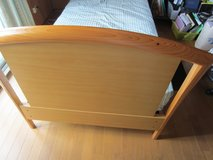 Bed Frame. Twin size. Wooden. Very strong. No mattress. Call pls 08042721978 in Okinawa, Japan