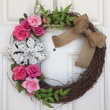 Spring Rose Wreath - Only ONE Available in Beaufort, South Carolina
