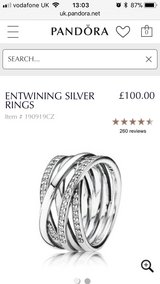 Pandora Silver ring in Lakenheath, UK
