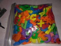 Alphabet and number magnets in Fort Campbell, Kentucky