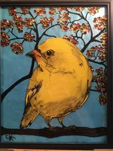 yellow finch in fall in Fort Riley, Kansas