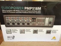 Behringer PMP518M Europower - Powered Mixer Processor Multi-FX 180W New!  New - In the Box $100.... in DeKalb, Illinois