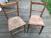 A Pair of Wooden Chairs in Lakenheath, UK